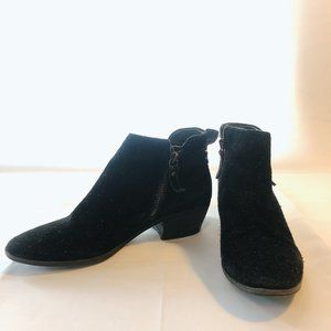 Vince Camuto Tricera Aged Black Suede Booties